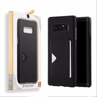 For Samsung Galaxy Note8 Phone Case Back Cover Leather Case with Card Slot for Samsung Note 8 - intl