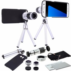 For Samsung Galaxy S7 Edge 12X Optical Zoom Telescope Camera Lens + Tripod + Back Case Cover Phone 12X Zoom Lens - Intl