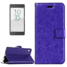 For Sony Xperia X Performance Crazy Horse Texture Horizontal Flip Leather Case With Magnetic Buckle and Holder and Card Slots and Wallet and Photo Frame(Purple) - intl