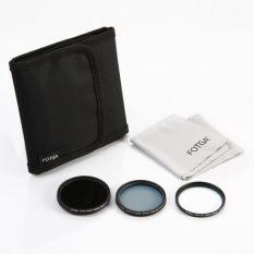 FOTGA 5 In 1 Kit 49mm MC UV + MC CPL + Fader ND Filter + Filter Case + Cleaning Cloth - Intl
