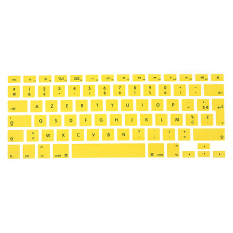 French Silicone UK / EU Keyboard Skin Cover For Apple Macbook Air Pro 13inch 15inch 17inch Yellow