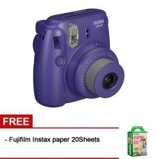 Fujifilm Instax Mini 8 Grape + Gratis Fujifilm Instax Paper 20 Lembar