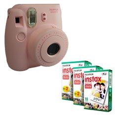 Fujifilm Instax Mini 8 Instant Camera (Pink) + Fuji White Edge Instant 50 Film - INTL