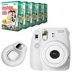 Fujifilm Instax Mini 8 Instant Camera (White) + Fuji White Edge Instant 100 Film + Close-up Lens (Intl)