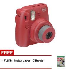 Fujifilm Instax Mini 8 Raspberry + Gratis Fujifilm Instax Paper 10 Lembar
