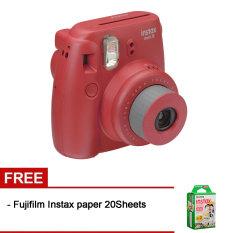 Fujifilm Instax Mini 8 Raspberry + Gratis Fujifilm Instax Paper 20 Lembar