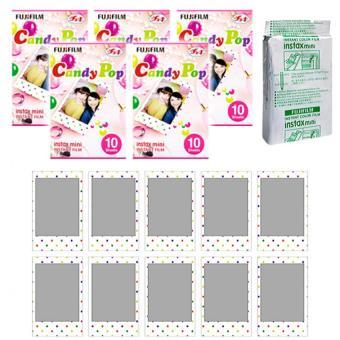 Fujifilm Instax Mini Candy Pop Instant 50 Film For Fuji 7.8 2.50s 7.90 / Polaroid 300 Instant Camera / Share SP-1