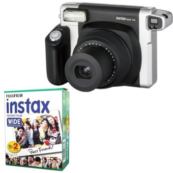 Fujifilm Instax WIDE 300 Instant Camera + WIDE White 20 Film (Black)