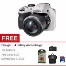 Fujifilm Kamera Prosumer Finepix S9400 - PUTIH - 16-MP - 50x Optical Zoom - Free Aksessories Kamera (White)