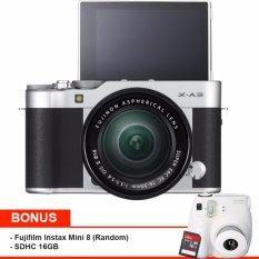 Fujifilm X-A3 Kit XC 16-50mm f/3.5-5.6 OIS II - 24.2MP+SDHC 16GB+Instax mini 8- Silver