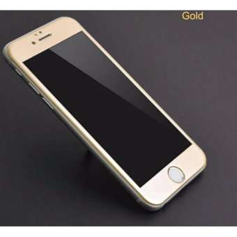 Full Cover Tempered Glass Screen Protector for Apple iPhone 5 / 5s / SE - Gold