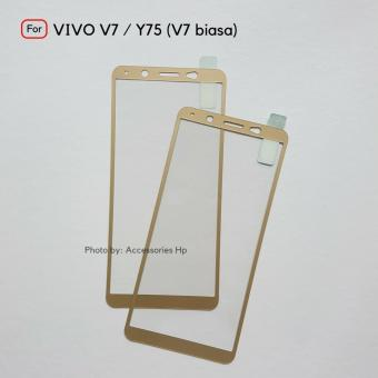 Full Cover Tempered Glass Warna Screen Protector for VIVO V7 / Y75 / V7 Biasa -