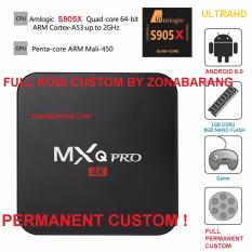 Full Custom Load Smart Tv Box New Version MXQ Pro Amlogic S905X 1GB / 8GB 4K Android 6.0 TV Box Quad Core 64bit KODI 17.1 PC WiFi DLNA Airplay Miracast