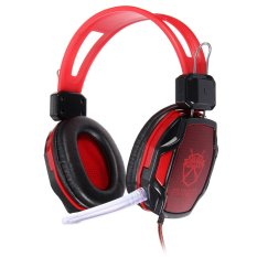 Gaming Headset Surround Hifi Stereo Headband Headphone USB 3.5mm with Mic For PC Red