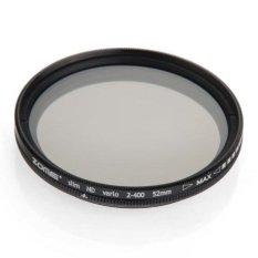 Generic Slim 52mm Variable ND Filter Neutral Density Adjustable For Canon ND118 - Intl