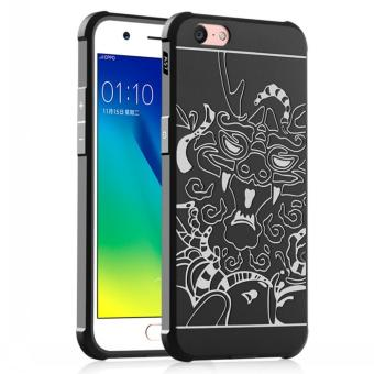 Gerai Soft Silikon TPU Shockproof Armor Dragon Case Cover For Oppo A39 / A57 - Black