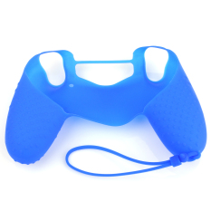GETEK Silicone Gel Camouflage Case Skin Cover For SONY PS4 Controller (Blue)