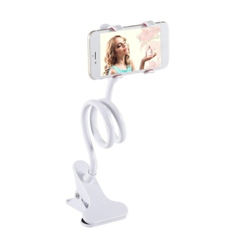 Gift Universal Lazy Bed Desktop Car Stand Mount Long Arm Holder For Cell Phone White -