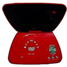 "GMC DIVX-808R - Portable DVD Player - 7"" - Merah"