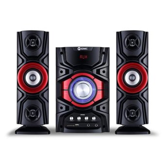 GMC Multimedia Aktif Speaker 889D BLUETOOTH - Merah / Red