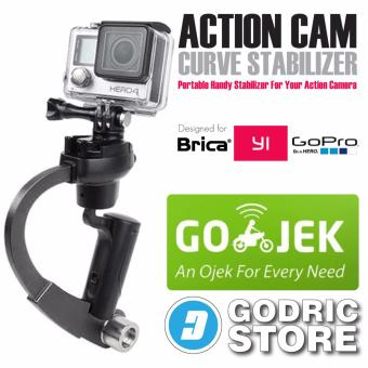 GoPro Action Cam Plastic Curve Stabilizer for GoPro, BRICA B-PRO & Xiaomi Yi - Hitam