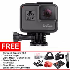 GoPro Hero 5 Black Edition 12MP 4K - (Paket Travelling)