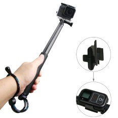 Handheld Aluminium Extendable Pole Monopod With Screw and Strap and Remote Control Buckle For GoPro HERO5 /4 /3+ /3 /2 /1, Xiaoyi Sport Cameras, Adjustment Length: 36-110cm (Black) - intl