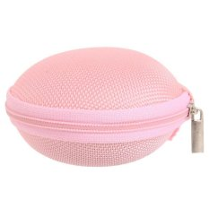 Hang-Qiao Carrying Hard Case Storage Bag Pouch For Headphone Earbud Earphone (Pink)