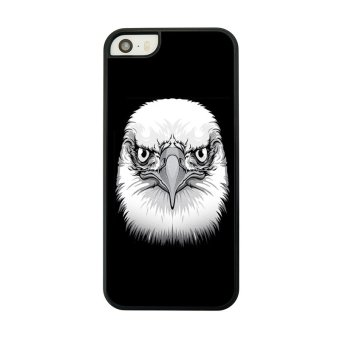 Hard Back Phone Case for iPhone 5 5s (Black/ White)