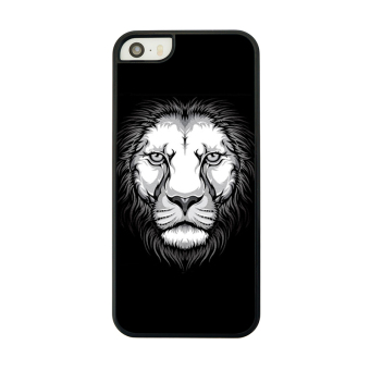 Hard Back Phone Cover Shell for iPhone 5 5s (Black/ White)
