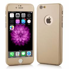 Hardcase Case 360 Iphone 5 / 5s / 5SE Casing Full Body Cover - Gold +