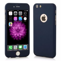 Hardcase Case 360 Iphone 5/5s/5SE Casing Full Body Cover - Biru Dongker