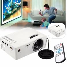 HD 1080P LED Rumah MulitMedia Bioskop Teater USB TV VGA SD HDMI Proyektor Mini (Putih)- intl