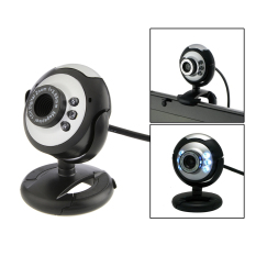 HD 12.0 MP 6 USB Webcam Camera With Mic And Night Vision For Desktop PC (Black)