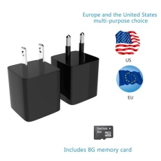 HD 720P Spy Camera Real Wall AC Plug Charger+8GB Memory Mini DVR EU Plug - intl