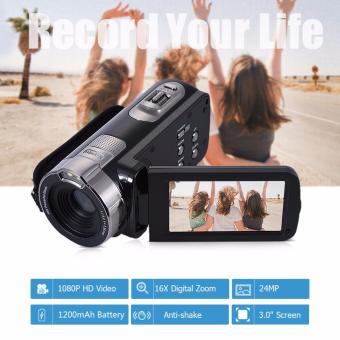 HDV-302P 3.0 Inci Layar LCD HD Penuh 1080 P 15FPS 24 Megapiksel 16 X Digital Meningkat Anti Goncangan Kamera Video Digital DV Camcorder