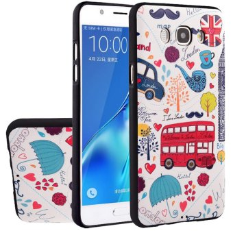 Hicase 3D Embossed Painting Series TPU Bumper Protective Back Phone Case Cover for Samsung Galaxy J7 2016 J710 (10) - intl