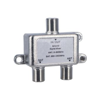 High Quality 2 In 1 Dual-use 2 Way Diplexer TV Signal MixerSatellite Sat Coaxial Combiner Cable Splitter Switch Switcher -intl