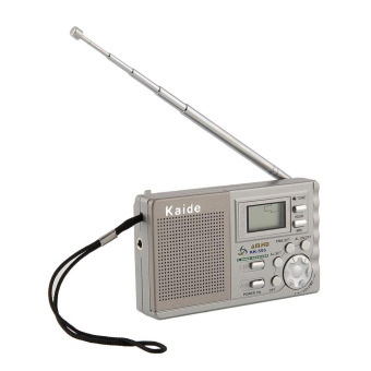 High Quality Portable AM FM Radio Alarm Clock LCD Digital / Display Tuning Mini Travel 3.5mm Earphone Jack - Intl
