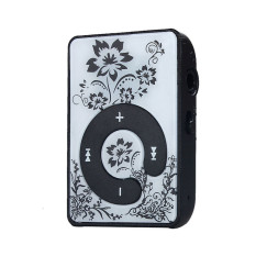 HKS 32GB Mini Clip Flower Pattern MP3 Player (Black) (Intl)