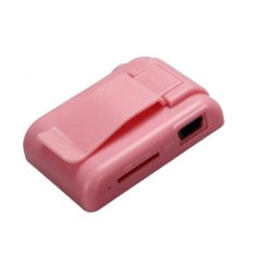 HKS 32GB Mini Clip Flower Pattern MP3 Player (Pink) (Intl)