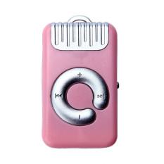 HKS 32GB Mini Clip Metal USB MP3 Player Support Micro SD TF Card Music Media (Pink) (Intl)