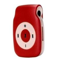 HKS 32GB Mini Clip Metal USB MP3 Player Support Micro SD TF Card Music Media (Red) (Intl)