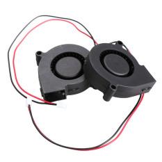 HKS 5Pcs Black Brushless DC Cooling Blower Fan 5015.5V 0.07.50x15mm (Intl)