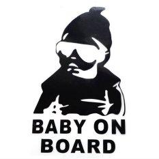 HKS Car Sticker Funny Black Baby On Board Waterproof (Intl)