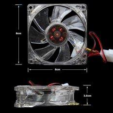 HKS Quiet Desktop PC Case Fan Cooling 4 LEDs New 80mm (Intl)
