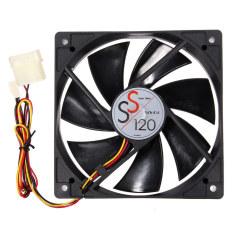 HKS Small 12x12x2.5cm Cooling Fan 12.3 Pin PC Computer CPU Quiet Case Fan Black (Intl)