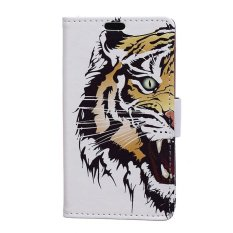 Hot Colofrul Pattern Tiger Card Slot Wallet PU Leather Stand Flip Case Cover for Samsung Galaxy J1(2016) J120 Case - intl