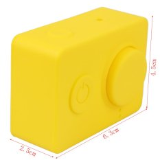 Hot New Dust Proof Silicone Cases 5 Colors Sports Camera Protective Case Soft Cover For Xiaoyi Xiaomi Cameras (Yellow) (Intl)