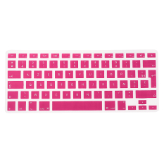 Housse Keyboard Clavier Protection Silicone UK EU FR Pr Macbook Air Pro 1.15 17 (Pink)